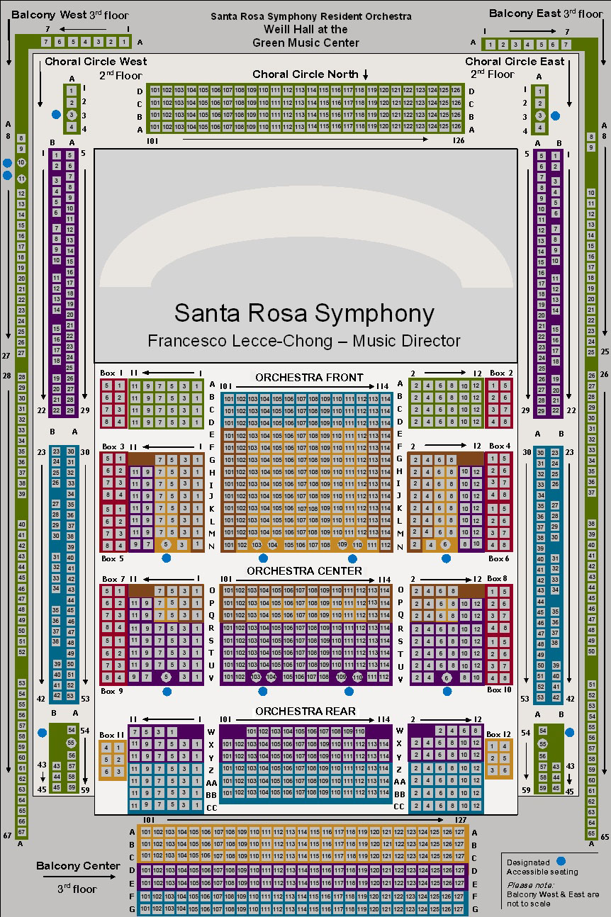 Seating Charts At Santa Rosa Symphony
